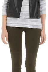 Rag & Bone Leather Moto Vest Black - Lyst