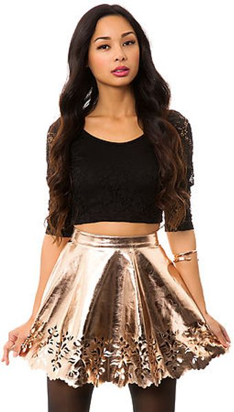 Reverse The Flower Cut Out Skirt - Lyst