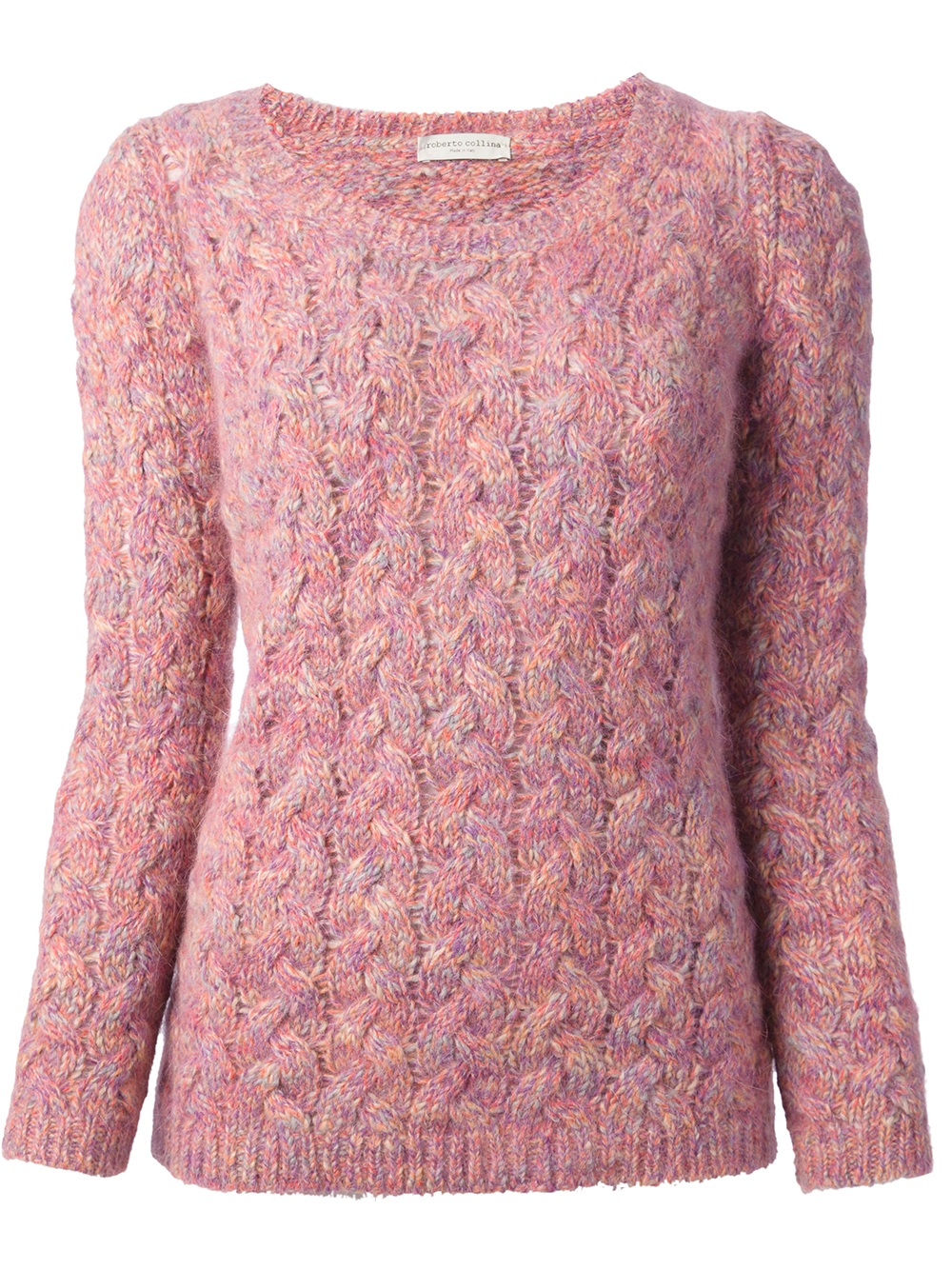 Roberto collina Cable Knit Sweater in Pink | Lyst