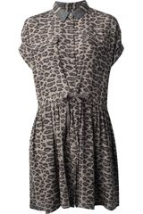 Sea Leopard Print Drawstring Dress - Lyst