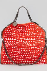 Stella McCartney Falabella Foldover Shoulder Bag Flame - Lyst