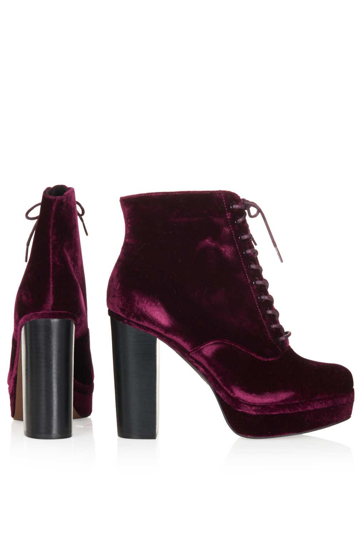 Topshop Black Velvet Shoes