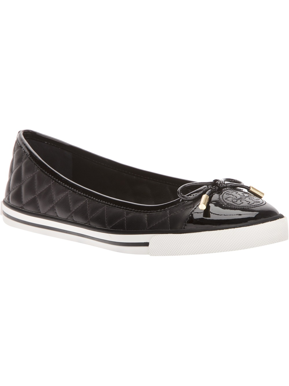 Black Leather Quilted Slipon Shoes