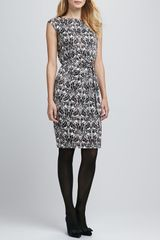Tory Burch Odila Printed Silk Dress - Lyst