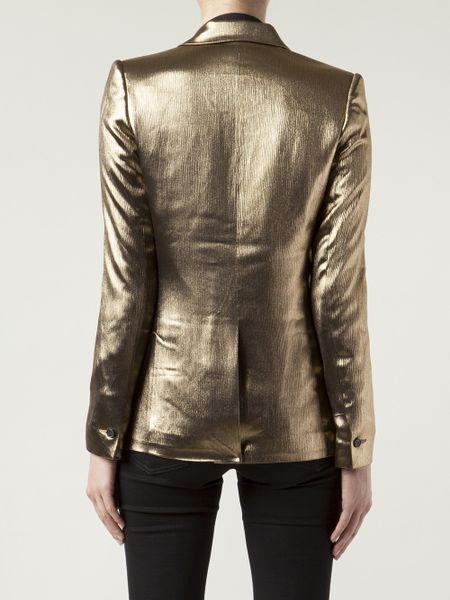 Metallic Suit Jacket Suit Jacket in Gold