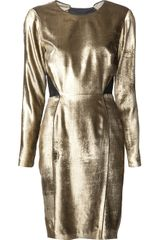 Veronica Beard Metallic Velvet Dress - Lyst