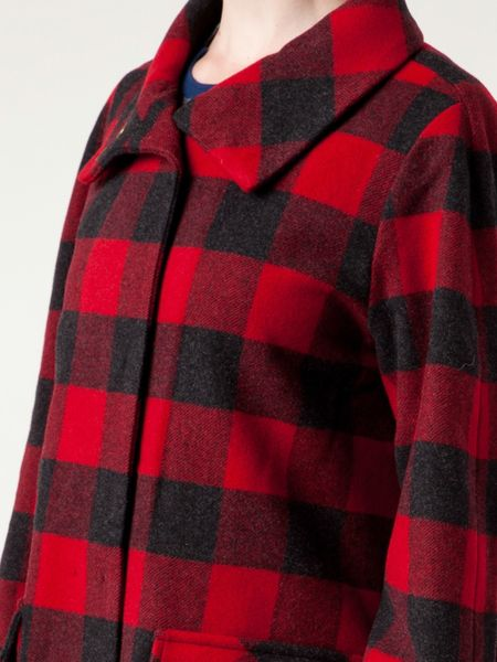 Woolrich Buffalo Plaid Coat In Red