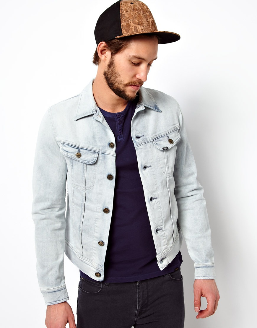 2c87d02947 Lyst - Fred Perry Lee Denim Jacket Rider Slim Fit Ice Blue in Blue ...