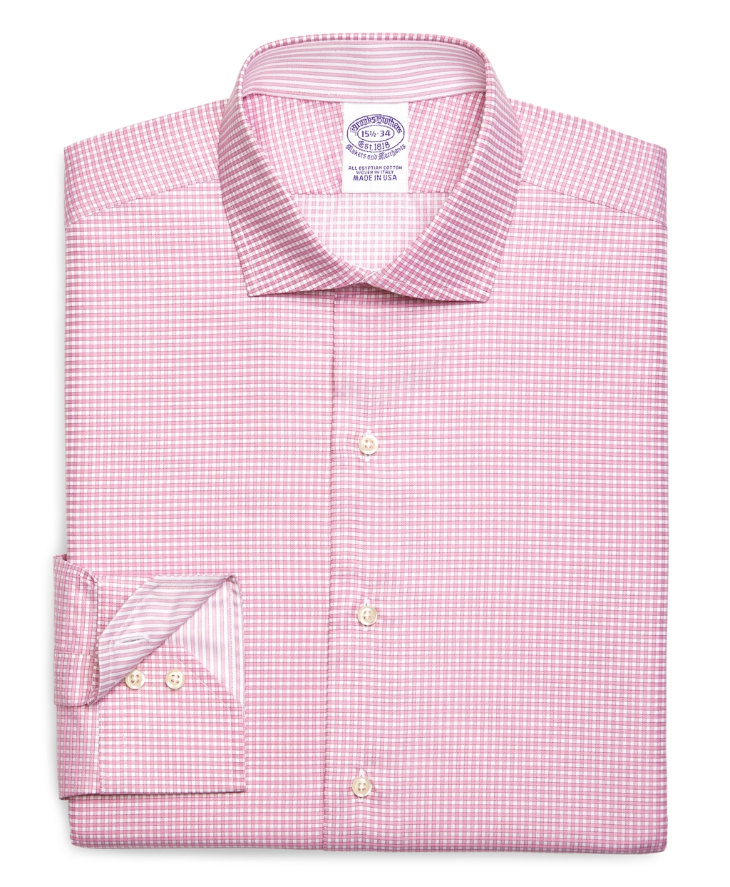 Lyst brooks brothers egyptian cotton slim fit spread for Mens egyptian cotton dress shirts