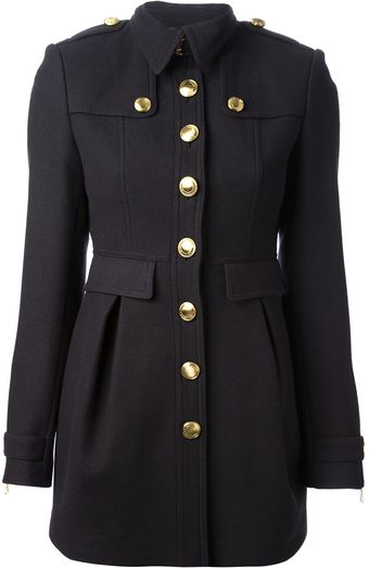 Burberry Brit Military Coat - Lyst