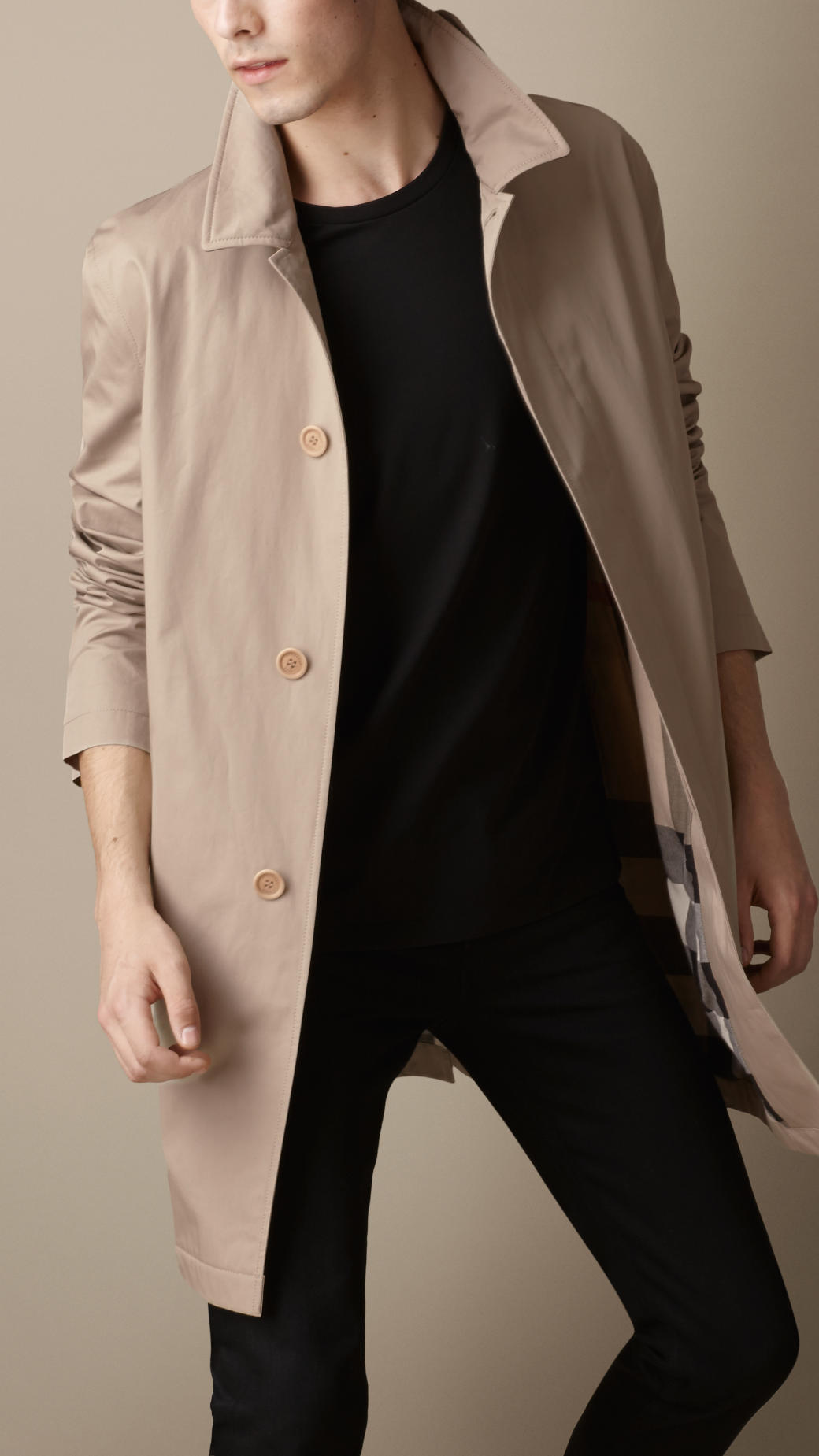 Burberry Lightweight Cotton Car Coat in Brown for Men | Lyst
