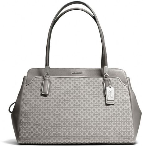 Coach Tote In Gray Silver Light Grey Lyst