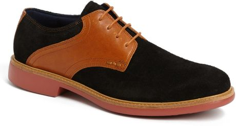 Cole Haan Great Jones Saddle Shoe in Brown for Men (Black Suede