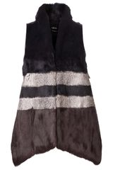 Cut 25 By Yigal Azrouel Fur Vest - Lyst