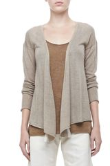 Donna Karan New York Longsleeve Draped Cashmere Cardigan - Lyst