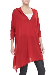 Donna Karan New York Hooded Cashmere Drape Tunic - Lyst