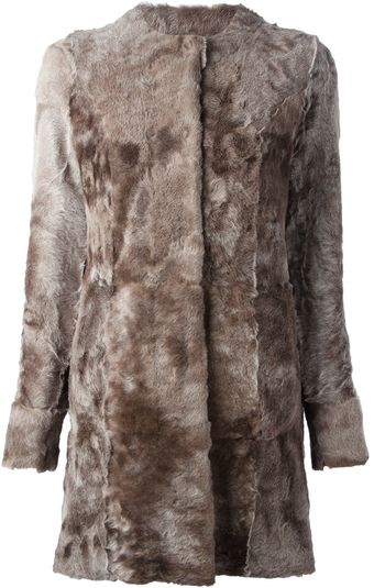 Drome Reversible Lamb Fur Coat - Lyst