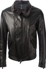 Giorgio Armani Leather Jacket - Lyst