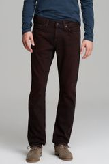 J Brand Jeans Kane Slim Straight Fit in Overdyed Oxblood - Lyst