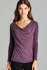 James Perse Top Collage Cowl - Lyst