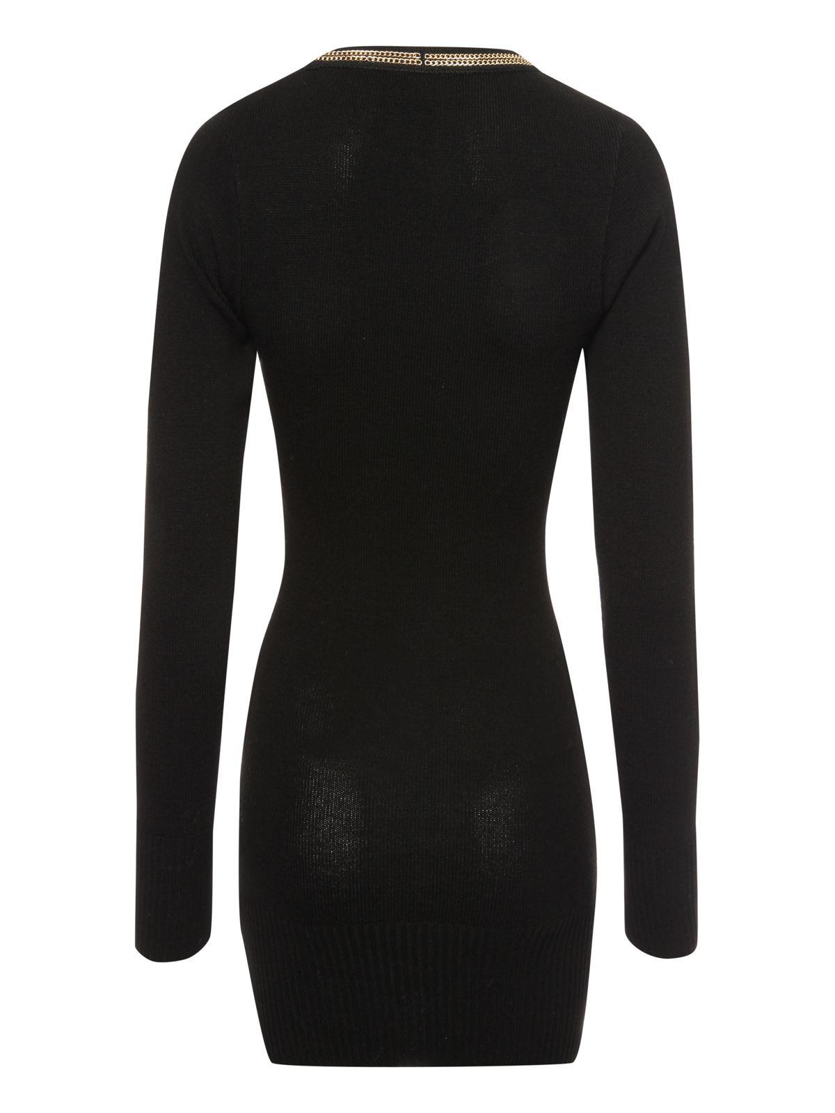 Jane norman Chain Detail Jumper Top in Black