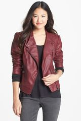 Jessica Simpson Trey Faux Leather Moto Jacket - Lyst