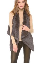 Jocelyn Coco Rabbit Fur Vest - Lyst