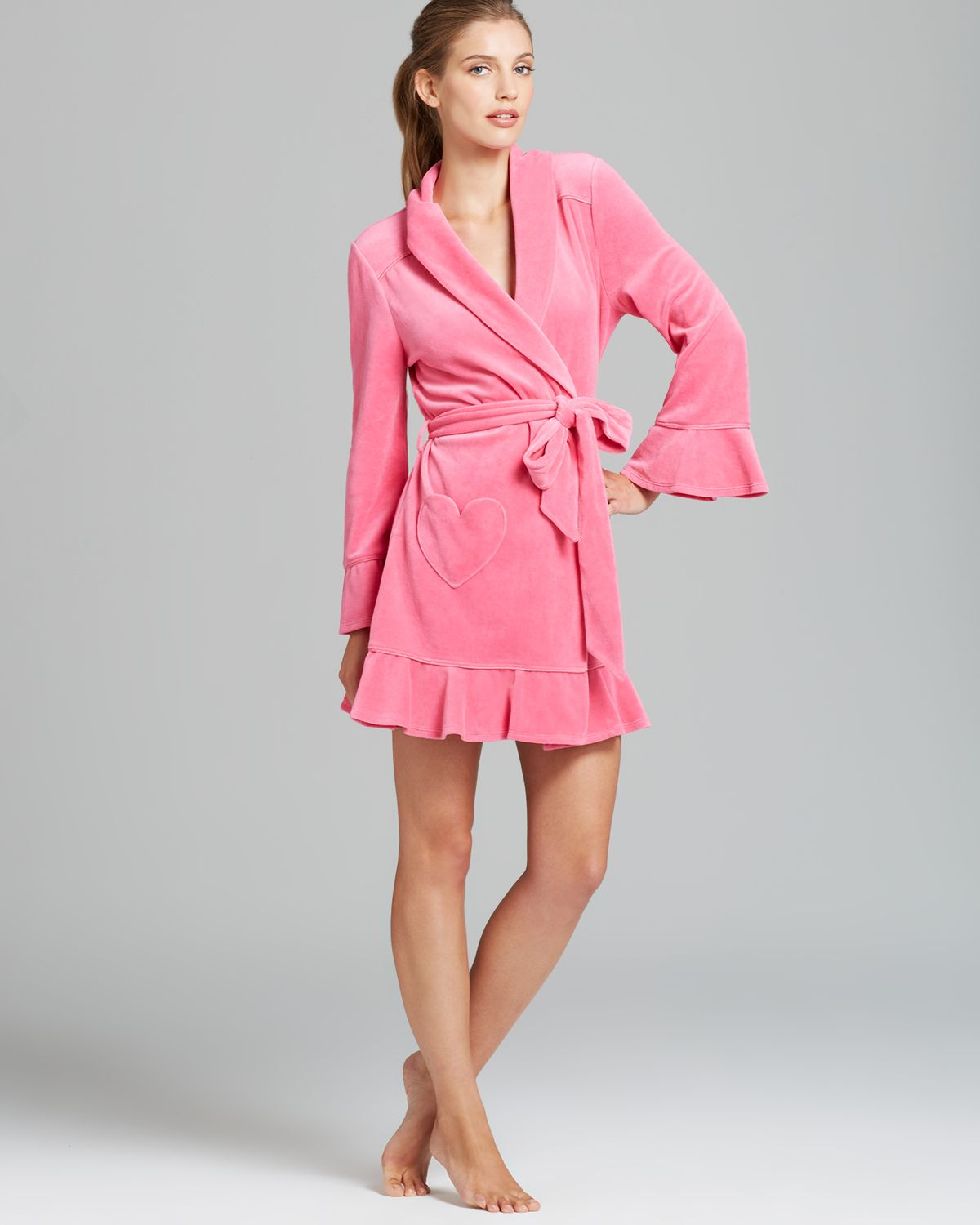 3117bb42e9 Lyst - Juicy Couture Velour Robe in Pink