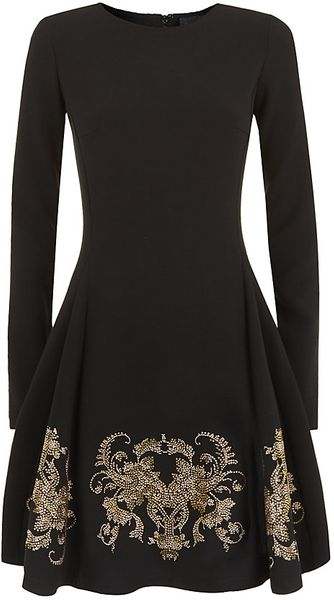 Just Cavalli Embellished Skater Dress - Lyst