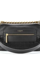 Lanvin Padam Double Zip Leather Shoulder Bag - Lyst