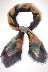 Lauren by Ralph Lauren Featherprint Wool Scarf - Lyst
