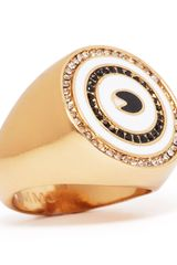 Marc By Marc Jacobs Pave Eye Ring - Lyst