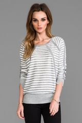 Marc By Marc Jacobs Jed Stripe Sweater in Gray - Lyst