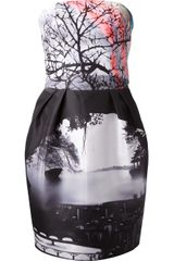 Mary Katrantzou Strapless Puff Dress - Lyst