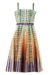 Mary Katrantzou Suddenly Apartment-block Print Dress - Lyst