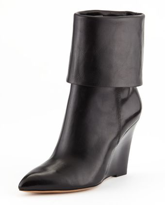 Michael Kors Paycen Foldover Wedge Boot - Lyst