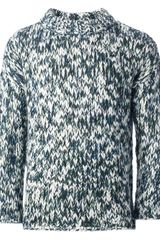 MSGM Thick Knit Sweater - Lyst