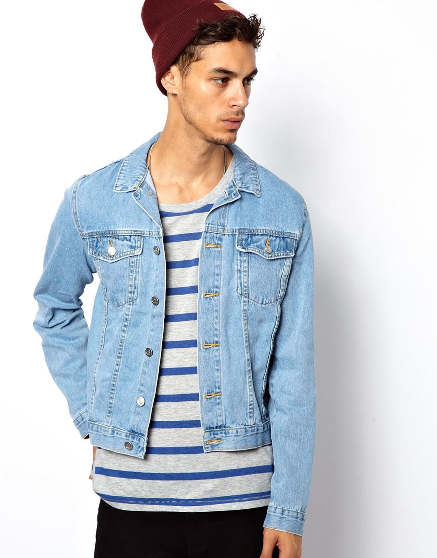 Boulee Cheap Monday Tobias Denim Jacket in Blue for Men | Lyst