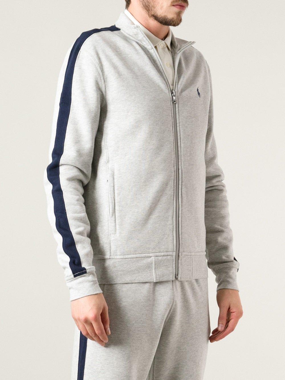 Lyst Polo Ralph Lauren Zipup Sweater In Gray For Men