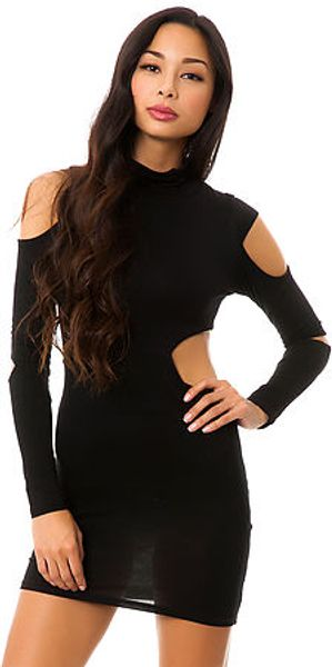Reverse The Cutout Bodycon Dress - Lyst