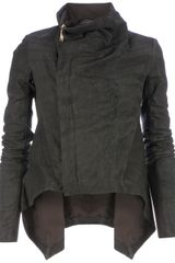 Rick Owens Brushed Effect Biker Jacket - Lyst