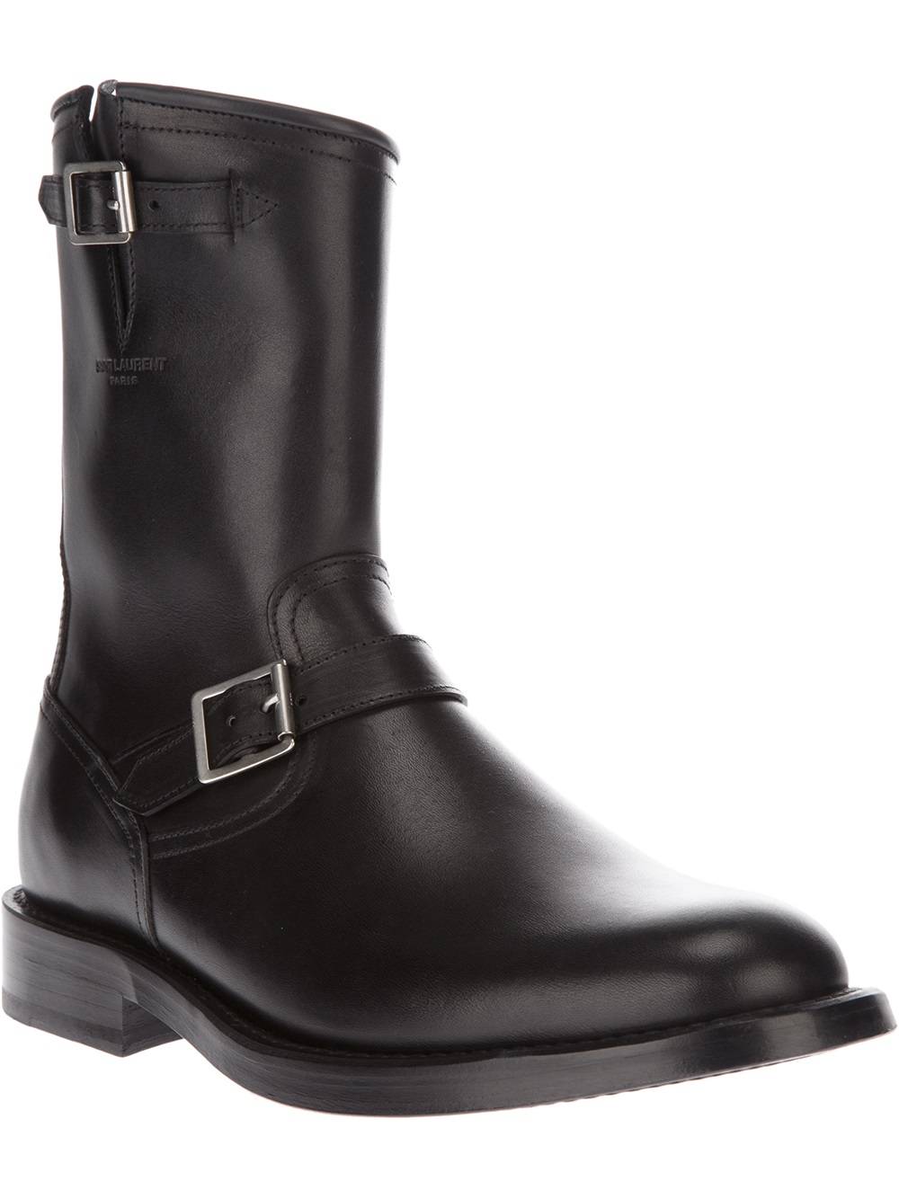 Saint Laurent Classic Engineer Boot in Black for Men