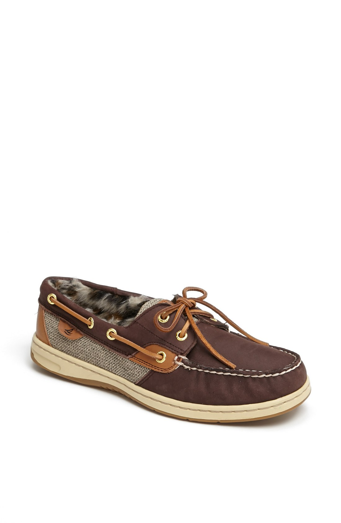 sperry top sider bluefish 2eye boat shoe in animal brown