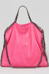 Stella McCartney Falabella Foldover Shoulder Bag Hot Pink - Lyst