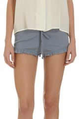 Steven Alan Cropped Pajama Top - Lyst