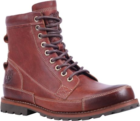 Timberland Earthkeeper 6inch Leather Lace Up Boots in Red for Men (Red Brown)   Lyst