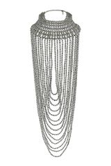 Topshop Mega Beaded Drape Necklace - Lyst
