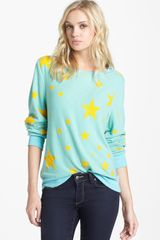 Wildfox Disco Stars Pattern Sweater - Lyst