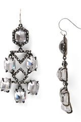 Alexis Bittar Crystal and Pavé Chandelier Earrings - Lyst
