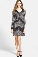 BCBGMAXAZRIA Fit Flare Sweater Dress - Lyst